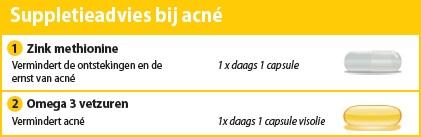 Suppletieadvies bij acné