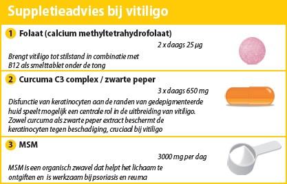 Suppletieadvies bij vitiligo