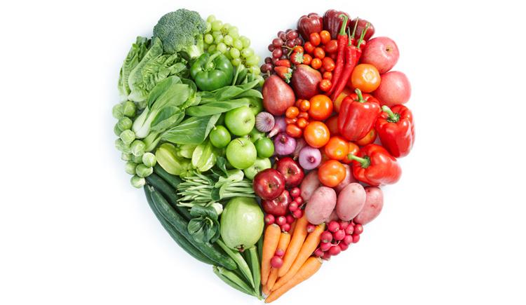 Hart voeding, groente en fruit